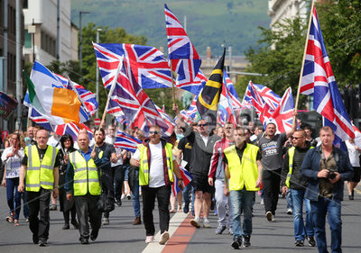 UK Freedom parade in Belfast