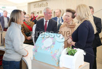 Press Eye - Belfast - Northern Ireland - 16th May 2018. First day of the 2018 Balmoral Show, in partnership with Ulster Bank, at Balmoral Park.  HRH Princess Anne attend the Balmoral show and visits Ulster Bank\'s marquee.  She was guided round by Richard Donnan - Head of Northern Ireland at Ulster Bank and Lynsey Cunningham Regional Director, Entrepreneurship at Ulster Bank.  Princess Anne is pictured chatting to Vivian McKinnon from Hydro-Ease.  ydro-Ease was one of the companies provided with free space by Ulster Bank to exhibit in its marquee. The companies include Ulster Bank customers and entrepreneurs from the bank\'s Entrepreneur Accelerator.. Picture by Jonathan Porter/PressEye