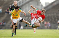 Connacht GAA Football Senior Championship Semi-Final, Elverys MacHale Park, Castlebar 24/6/2012. Mayo vs Leitrim. Leitrim\'s Shane Moran and Danny Geraghty of Mayo. Mandatory Credit ©INPHO/James Crombie