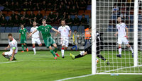 Press Eye - Belfast -  Northern Ireland - 11th June 2019 - Photo by William Cherry/Presseye. Northern Ireland\'s Paddy McNair scoring against Belarus during Tuesday nights UEFA EURO 2020 Qualifier at the Borisov Arena, Belarus.      Photo by William Cherry/Presseye