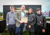 Press Eye - Belfast - Northern Ireland - 3rd November 2018 . Down Royal Festival of Racing - Day 2 . The Value Cabs 3-Y-O Hurdle of 14,000. Race winner Brian Cooper on board Coeur Sublime.. Picture  Matt Mackey / Press Eye.