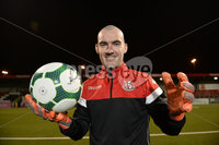. 6th December 2018. Goalkeeper Gerard Doherty pictured at Seaview after signing for Crusaders on  an 18 month contract which will start in January . Mandatory Credit  Stephen Hamilton.  .