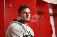 24 November 15 - Picture by Darren Kidd / Press Eye..  Ulster\'s Ricky Lutton during a press conference at Kingspan Stadium ahead of this weeks away match against Leinster.