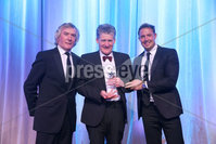 Press Eye - Belfast - Northern Ireland - 6th February 2017 -  . Belfast Telegraph Sports Awards 2016.. Award 9 - George Best Breakthrough Award. Michael McGovern won the George Best Breakthrough Award, sponsored by Gym Co. It was presented to his father Terry, by Jim Conlon, Director of Gym Co and Northern Ireland sporting icon Pat Jennings.. Photo by Kelvin Boyes / Press Eye..