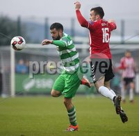 ©/Presseye.com - 19th May 2017.  Press Eye Ltd - Northern Ireland - Airtricity League Premier Division - Derry City V Shamrock Rovers. Derry\'s Nathan Boyle and Shamrock Rovers\' David Webster.. Mandatory Credit Photo Lorcan Doherty / Presseye.com