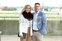 Press Eye - Belfast - Northern Ireland - 3rd November 2018 . Down Royal Festival of Racing - Day 2. Maura and Stevie Davison pictured at Down Royal . Photo by Kelvin Boyes / Press Eye..