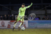 Danske Bank Premiership, Mourneview Park, Co. Armagh 3/4/2018 . Glenavon vs Linfield. Mandatory Credit ©INPHO/William Cherry. Glenavon\'s goalkeeper Jonathan Tuffey