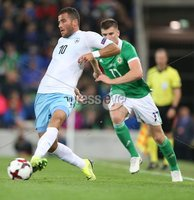 PressEye-Northern Ireland- 11th September  2018-Picture by Brian Little/ PressEye. Northern Ireland  Paddy McNair    and Israel Tomer Hemed    during  Tuesday\'s  Friendly International Challenge match at the National Football Stadium at Windsor Park.. Picture by Brian Little/PressEye .
