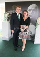Press Eye - Belfast - Northern Ireland - 8th September 2018 - . Colin and Anne-Louise McCusker pictured at the Archbishop's Palace in Armagh along with friends and family of Dr Rory Best OBE to witness the sportsman's conferment with the Freedom of the Borough of Armagh City, Banbridge and Craigavon..  . Photo by Kelvin Boyes / Press Eye..