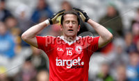 Allianz Football League Division 2 Final, Croke Park, Dublin 29/4/2012. Tyrone vs Kildare. Tyrone\'s Stephen O\'Neill reacts to a missed chance. Mandatory Credit ©INPHO/James Crombie