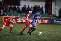Danske Bank Premiership, Solitude, Belfast 1/12/2018 . Cliftonville vs Dungannon Swifts. Ryan Catney Cliftonville and Paul McElroy Dungannon. Mandatory Credit INPHO/Freddie Parkinson