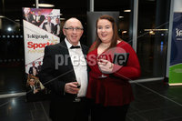 Press Eye - Belfast - Northern Ireland - 14th January 2019.. Steven Brodie and Claire Brodie pictured at the  Belfast Telegraph Sports Awards 2018 in the ICC Belfast.. Photo by Kelvin Boyes / Press Eye..