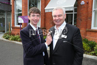 PressEye - Belfast - Northern Ireland - 12th September 2017. Pictured: Young golf star, Tom McKibbin, Northern Ireland Children\'s Hospice Ambassador and Eamonn Holmes, new NI Hospice Ambassador. . Picture: Philip Magowan / PressEye