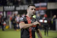 12th September 2017 . Danske Bank Irish premier league match between Crusaders and Linfield at Seaview.. Crusaders Colin Coates pictured at the end of tonights game ..  Photo by Stephen Hamilton /Inpho