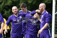 © Press Eye.com 12th August 2017. NIFL Championship 1. Lurgan Celtic v Newry City.. Newry\'s Mark Hughes. celebrates after scoring to make it 0-1. during Saturday\'s match at Knockramer Park. Photo by TONY HENDRON/Presseye.com