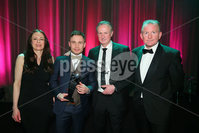 Press Eye - Belfast - Northern Ireland - 6th February 2017 -  . Belfast Telegraph Sports Awards 2016.. Gail Walker, Carl Frampton, Michael O\'Neill and Richard McClean.. Photo by Kelvin Boyes / Press Eye..