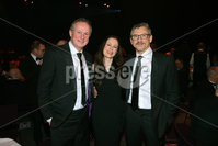 Press Eye - Belfast - Northern Ireland - 6th February 2017 -  . Belfast Telegraph Sports Awards 2016.. Michael O\'Neill, Gail Walker and Les Kiss.. Photo by Kelvin Boyes / Press Eye..