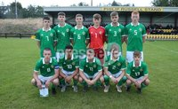 PressEye-Northern Ireland- 19th August  2019-Picture by Brian Little/PressEye. Northern Ireland U16  team    during Monday evening\'s challenge match at Breda Park (Knockbreda FC).. Picture by Brian Little/PressEye .
