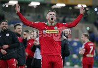 Tennent\'s Irish Cup Quarter-Final, Windsor Park, Belfast 13/3/2018 . Linfield vs Cliftonville. Cliftonville\'s Rory Donnelly celebrates after the game. Mandatory Credit ©INPHO/Jonathan Porter