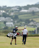 2018 Dubai Duty Free Irish Open - Day 4, Ballyliffin Golf Club, Co. Donegal 8/7/2018. Russell Knox with James Williams. Mandatory Credit ©INPHO/Oisin Keniry