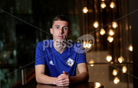Press Eye - Belfast, Northern Ireland - 08th October 2019 - Photo by William Cherry/Presseye. Northern Ireland\'s Gavin Whyte at Tuesday nights press conference in Rotterdam ahead of Wednesday nights UEFA Euro 2020 Qualifier. Photo by William Cherry/Presseye