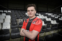 10th January 2019. Ex Birmingham City striker Ronan Hale pictured at Seaview after signing for the Shore road side for two and a half years.. Photo by Stephen Hamilton/Presseye