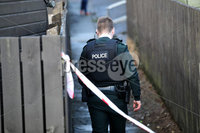 Press Eye - Clougher Murder Scene - 10 Feb 2019. Police have named the victim of a murder in Co Tyrone as 30-year-old Pat Ward.His body was discovered in an alleyway at McCrea Park at around 8.15am on Saturday.. A post-mortem examination on the body has yet to take place but police are treating the death as murder.. A PSNI spokesperson said Mr Ward was from the Clogher area.. A 23-year-old man and a 33-year-old woman, who were arrested on suspicion of murder, remain in police custody.