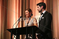 Press Eye - Belfast - Northern Ireland - 6th February 2017 -  . Belfast Telegraph Sports Awards 2016.. Claire McCollum and Craig Doyle pictured at the Belfast Telegraph Sports Awards 2016 in the Waterfront Hall.. Photo by Kelvin Boyes / Press Eye..