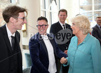 22 May 2019, Mandatory Credit Press Eye/Darren Kidd.  The Prince of Wales and Duchess of Cornwall during their visit to The Grand Central Hotel Belfast on the second day of their visit to Northern Ireland.