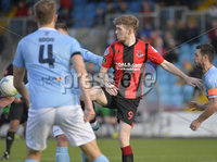 12th October 2019. Danske Bank Irish premiership. Ballymena v Crusaders at Warden Street.. Ballymena\'s  Ryan Harpur handles the ball which referee awarded a penalty for. (Extreme left). Mandatory Credit -Inpho/Stephen Hamilton.
