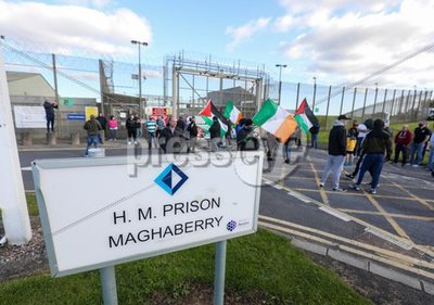 Protest at Maghaberry Prison