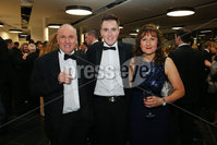 Press Eye - Belfast - Northern Ireland - 6th February 2017 -  . Belfast Telegraph Sports Awards 2016.. Philip, Luke and Evelyn Mehaffey pictured at the Belfast Telegraph Sports Awards 2016 in the Waterfront Hall.. Photo by Kelvin Boyes / Press Eye..