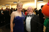 Press Eye - Belfast - Northern Ireland - 6th February 2017 -  . Belfast Telegraph Sports Awards 2016.. Paul and Janet Gray pictured at the Belfast Telegraph Sports Awards 2016 in the Waterfront Hall.. Photo by Kelvin Boyes / Press Eye..