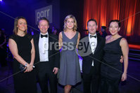 Press Eye - Belfast - Northern Ireland - 6th February 2017 -  . Belfast Telegraph Sports Awards 2016.. Sarah Little, Michael Jenkins, Arlene Regan, Simon Snodden and Joanne Hayden pictured at the Belfast Telegraph Sports Awards 2016 in the Waterfront Hall.. Photo by Kelvin Boyes / Press Eye..