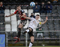 12th December  2020. Danske Bank Irish premier league match between Crusaders and Portadown at Seaview Belfast. Crusaders Gary Thompson  in action with Portadowns  Luke Wilson. Mandatory Credit   Inpho/Stephen Hamilton