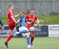 Danske Bank Premiership, Solitude, Belfast 14/4/2018 . Clliftonville vs Glenavon. Clliftonville\'s Christopher. Curran in action with Glenavon\'s Robbie. Norton. Mandatory Credit ©INPHO/Matt Mackey