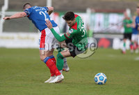 Danske Bank Premiership, The Oval, Belfast, Northern Ireland. 1/5/2021. Glentoran vs Linfield FC . Glentoran Jay Donnelly   and Linfield Jamie Mulgrew  . Mandatory Credit INPHO/Presseye/Brian Little