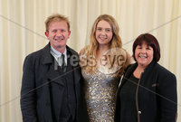 2 September 15 -   Picture by Darren Kidd / Press Eye.. Hillsborough Oyster Festival 2015:. Oyster Festival Musical Evening: The Ulster Youth Orchestra performing for the first time at Hillsborough International Oyster Festival along with the Portadown Male Voice Choir and soloist Zoe Jackson.. Pictured are Adrian, Zoe and Gill Jackson