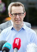 Press Eye - Belfast - Northern Ireland - 8th August 2018. Three petition signing centre open in north Antrim regarding The Recall of MPs Act 2015 and DUP MP for the area Ian Paisley Jnr\'s recent suspension from the House of Commons over expenses and holidays to Sir Lanka. . Sinn Fein MLA for the area Philip McGuigan leads a party delegation at the Joey Dunlop leisure centre in Ballymoney where he speaks to the press after signing the petition. .  . Picture by Jonathan Porter/PressEye