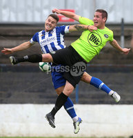 Danske Bank Premiership, Showgrounds, Coleraine 4/8/2018. Coleraine vs Warrenpoint. Coleraine\'s Josh Carson and Warrenpoint\'s Alan O\'Sullivan. Mandatory Credit ©INPHO/Lorcan Doherty