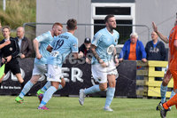 © Presseye.com- August 12th 2017, Danske Bank Premiership.. Warrenpoint Town v Glenavon %:30 Kick off.. Warrenpoint\'s Darren Murray. celebrates after scoring to make it 1-2. during Saturday\'s match at Milltown. Photo by TONY HENDRON/Presseye.com. .