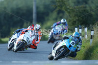PressEye-Northern Ireland- 12th  August   2017-Picture by Brian Little/ PressEye. Dean Harrision Silcone Engineering Kawasaki leads Conor Cummins Padgetss Honda around  Tornagrough  during the Around A Pound Superbike Race at the MCE Insurance Ulster Grand Prix, around the 7.4  mile Dundrod Circuit . Picture by Brian Little/PressEye  .