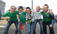 Press Eye - Belfast -  Northern Ireland - 11th November 2017 - Photo by William Cherry/Presseye. Northern Ireland fans in Basel ahead of Sunday nights World Cup Play Off against Switzerland at St. Jakob-Park, Basel.