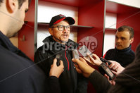 24 November 15 - Picture by Darren Kidd / Press Eye..  Ulster\'s director of rugby, Les Kiss during a press conference at Kingspan Stadium ahead of this weeks away match against Leinster.