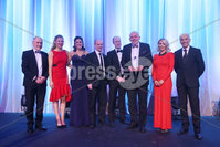 Press Eye - Belfast - Northern Ireland - 6th February 2017 -  . Belfast Telegraph Sports Awards 2016.. Award 6 - Local Heroes Award. Slaughtneill GAA won the Local Heroes Award, sponsored by Crowne Plaza Belfast. It was presented by Rajesh Rana, Director of Crowne Plaza Belfast and Dame Mary Peters..  . Photo by Kelvin Boyes / Press Eye..