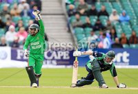 ©Press Eye Ltd Northern Ireland -18th July  2012. Mandatory Credit - Picture by Darren Kidd/Presseye.com . RSA T20 International Series.. Ireland v Bangladesh, 1st T20I, Stormont, Belfast.. Ireland\'s Niall O\'Brien is stumped by  Mushfiqur Rahim(w/c).