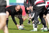 ©Press Eye Ltd Northern Ireland -26th April 2012. Mandatory Credit - Picture by Darren Kidd/Presseye.com .  Ulster training at Ravenhill ahead of Saturday's Heineken Cup semi final against Edinburgh at the Aviva Stadium in Dublin.. Ulster\'s Rory Best