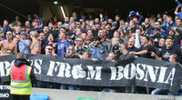 Press Eye Belfast - Northern Ireland 8th September 2018. UEFA Nations League 2019 Final Tournament at the National Stadium at Windsor Park.  Northern Ireland Vs Bosnia and Herzegovina. . Bosnia and Herzegovina\'s fans pictured at the match. . Picture by Jonathan Porter/PressEye.com