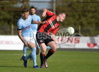 12th October 2019. Danske Bank Irish premiership. Ballymena v Crusaders at Warden Street.. Ballymena\'s  Scot Whiteside in action with Crusaders Jordan Owens . Mandatory Credit -Inpho/Stephen Hamilton.