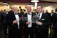 Press Eye - Belfast - Northern Ireland - 14th January 2019.. John Speer, Paul Cooney and Paul Williamson pictured at the  Belfast Telegraph Sports Awards 2018 in the ICC Belfast.. Photo by Kelvin Boyes / Press Eye..